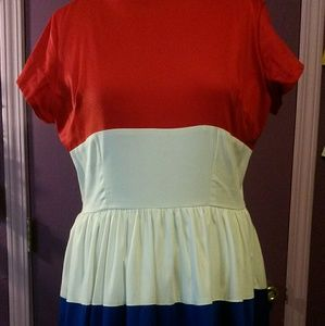 Pinup Couture Amanda Dress Red White & Blue